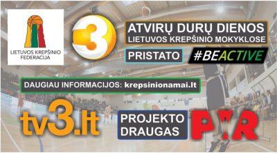 Informacija apie atvirų durų dienos renginius Lietuvos krepšinio mokyklose