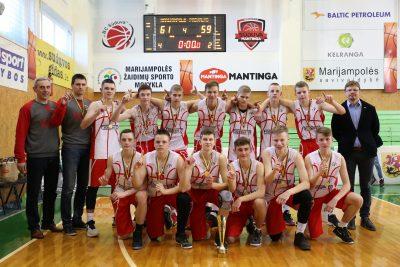 """Jaunučių """"B"""" diviziono finalo ketvertą laimėjo Marijampolės krepšininkai"""