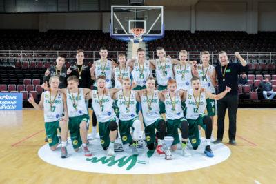 Vaikinų jaunučių žaidynių nugalėtojais tapo Kauno krepšininkai