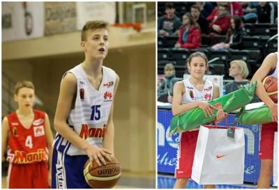 """Moksleivių krepšinio lygos """"Perlas"""" kovo mėnesio žaidėjai – E.Preibys ir A.Zdanevičiūtė"""