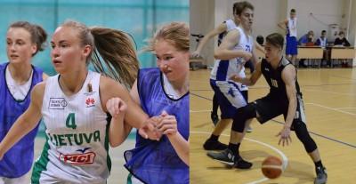 """Moksleivių krepšinio lygos """"Perlas"""" kovo mėnesio žaidėjai – E.Daunys ir S.Kaupytė"""