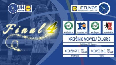LIDL – MKL U14 berniukų finalo ketvertas: čempionų titulą ginantys žalgiriečiai prieš pirmą kartą lemiamų kovų duonos ragausiančius klaipėdiečius