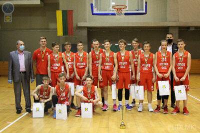 U14 berniukų B divizione triumfavo Utenos DSC krepšininkai