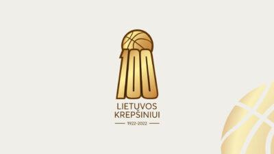 Lietuvos krepšinio šimtmečio jubiliejui įamžinti – specialus logotipas ir metai skirti krepšiniui